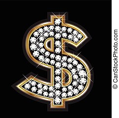 Dollar bling logo