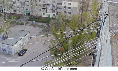 Internet cable between residential buildings - Network cable...