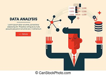 Data analysis research concept