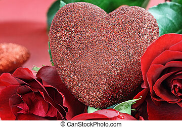 Valentines Day Heart and Roses - Valentines Day heart...