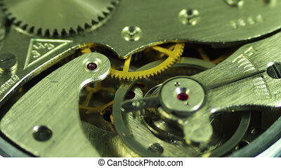 Clock Mechanism Works - The pendulum sways, the gears are...
