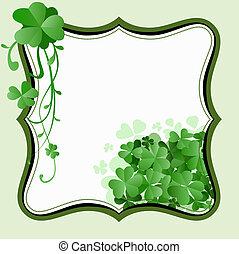 St. Patricks Day frame - vintage style St. Patrick`s Day...