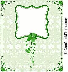 St Patrick`s Day frame - vintage style St Patrick`s Day...