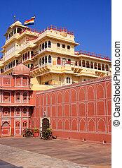 Chandra Mahal in Jaipur City Palace, Rajasthan, India Palace...