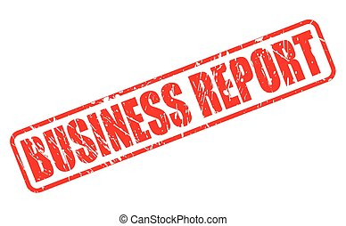 BUSINESS REPORT red stamp text on white