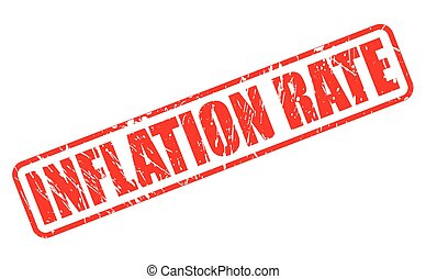 INFLATION RATE red stamp text on white
