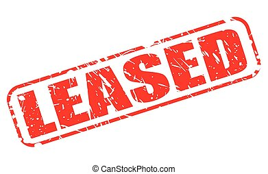 LEASED red stamp text on white
