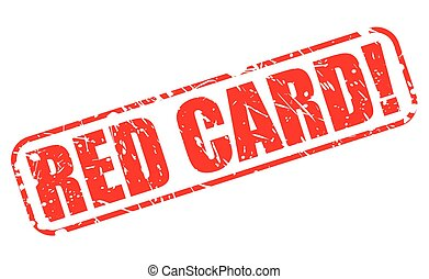 RED CARD red stamp text on white
