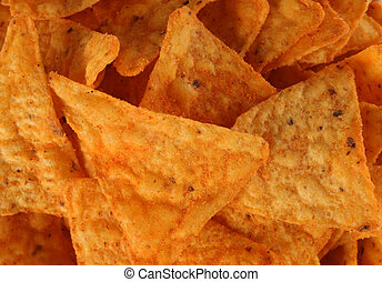 Potato chip - gold potato chip background with spice detail