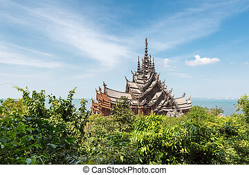 the sanctuary of truth in pattaya, thailand
