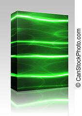 Laser technology background box package - Software package...