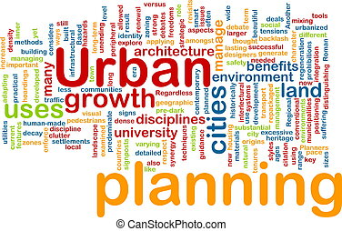 Urban planning background concept
