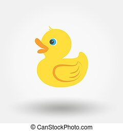 Rubber duck toy. Icon for web and mobile application. Vector...