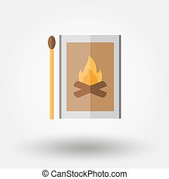 Match box icon. - Match box. Icon for web and mobile...