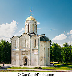 The Dormition Cathedral in Vladimir, Russia Dormition...