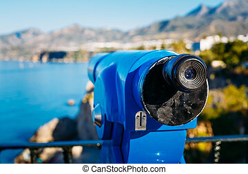 Coin Operated Telescope For Sightseeing - Old Coin Operated...