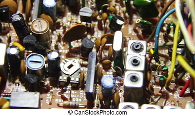 Circuit Boards with Electronic Components 4 - Close-up of...