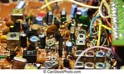 Circuit Boards with Electronic Components 5 - Close-up of...