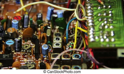 Circuit Boards with Electronic Components 6 - Close-up of...