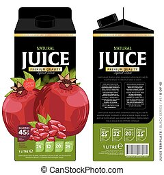 Template Packaging Design Pomegranate Juice. Concept design...