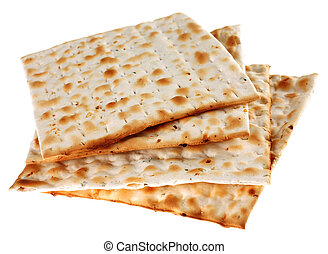 Unleavened bread traditiona isolated on white background