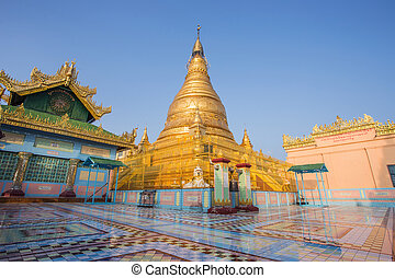 mandalay - Stupa of sky palace in Mandalay Myanmar