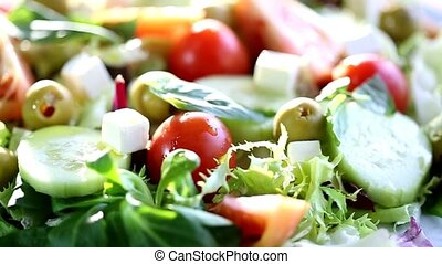 Fresh Mediterranean salad - Mediterranean salad with fresh...