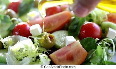 Fresh Mediterranean salad - Mediterranean salad with fresh...