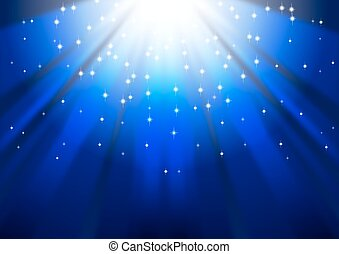 Festive blue square abstract background with stars...