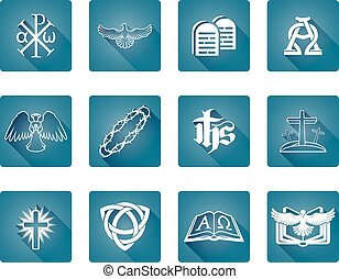 Christian Icon Symbols - A set of Christian religious icons...