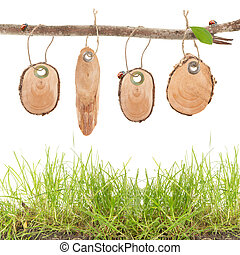 wooden price tags