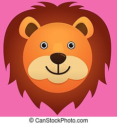 vector image of a lion face