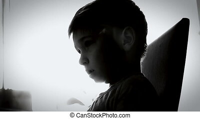Boy offended and crying 3 - Sad and Troubled Kid boy...