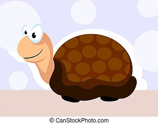 tortoise - Illustration of brown colour tortoise