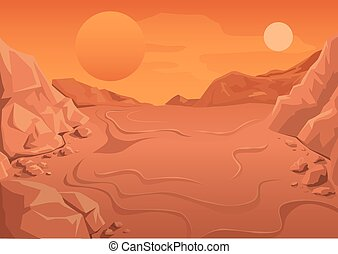 Red Planet Mars in space