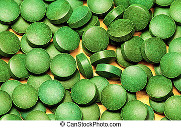 Spirulina - Natural Organic Green Algae Spirulina Pills