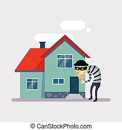 Theft Insurance Vector Illustartion - Theft Insurance...
