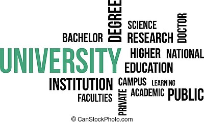 word cloud - university - A word cloud of university related...
