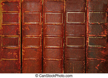 Old books with blank spines