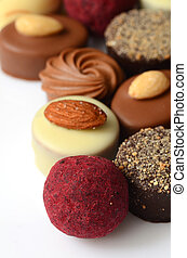 Chocolate bon bons - Set of tasty chocolate bon bons,...