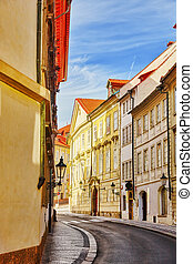 Quarters and streets on Pragues Mala Strana