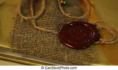 Heart Wax Seal and rope