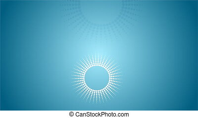 Abstract dotted circles video animation - Abstract dotted...