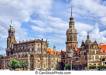 Dresden Castle or Royal Palace German: Dresdner...