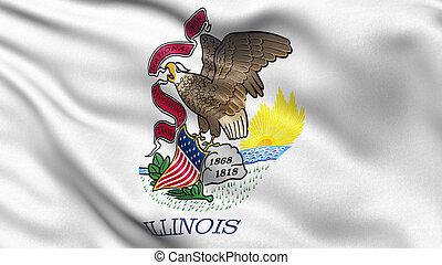 US state flag of Illinois