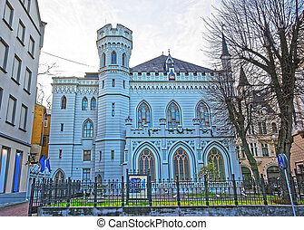 House of Small guild in the Old city in Riga in Latvia in...