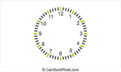 Abstract flat wall clock video animation - Abstract flat...