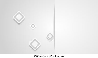 Abstract grey paper squares video animation - Abstract grey...
