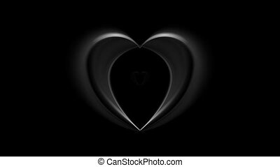 Black smoke hearts video animation - Black smoke hearts...
