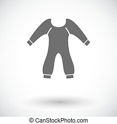 Baby clothes icon Flat vector related icon for web and...